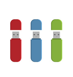 Flash drive usb memory sticks vector