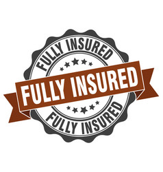 Fully insured stamp sign seal vector