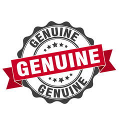 Genuine stamp sign seal vector