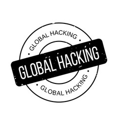 Global hacking rubber stamp vector