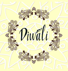 Happy diwali text design happy diwali card vector
