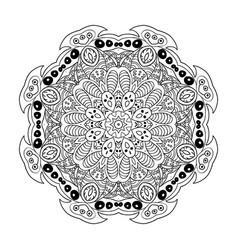 Mandala doodle drawing floral ornament ethnic vector