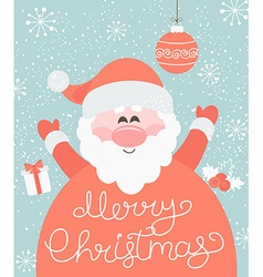 Merry Christmas from Santa vector image vector image