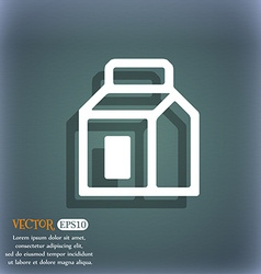 Milk juice beverages carton package icon symbol on vector