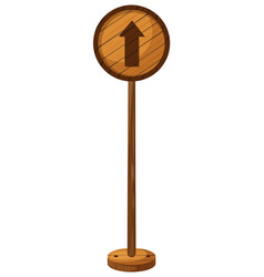 Round sign with arrow pointing up vector