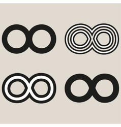 Set of limitless icons vector