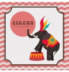 spectacular circus show design vector image vector image