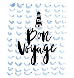 Summer background bon voyage vector