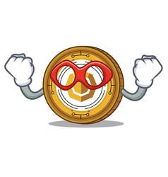 Super hero komodo coin character cartoon vector
