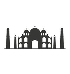 taj mahal isolated icon vector image