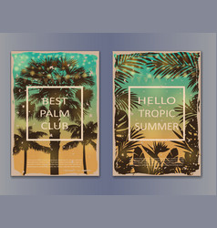 tropic vintage posters mock up vector image