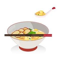 Wanton soup vector image vector image