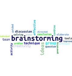 Word cloud brainstorming vector