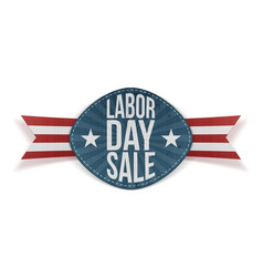 Labor day sale realistic festive banner vector
