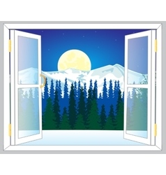 Beautiful view from window vector