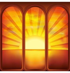 Sun in the window vector