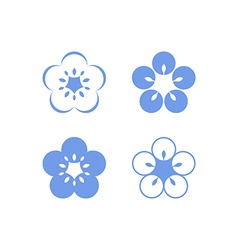 Flax flowers vector image