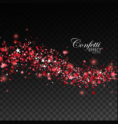 Glittering red stream of sparkles vector