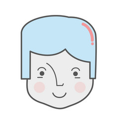 Happy man head and nice face vector