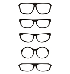 Black hipster glasses set with thick holder vector
