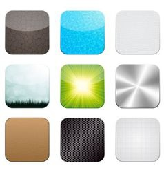 app icon set vector image