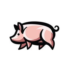 Colorful stylized drawing of pig vector