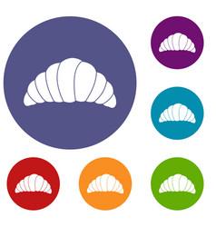 Croissant icons set vector