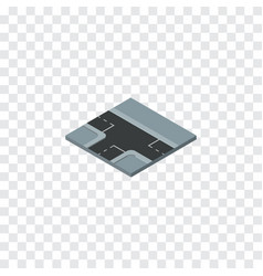 isolated three ways isometric crossroad vector image