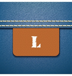 L size clothing label - vector