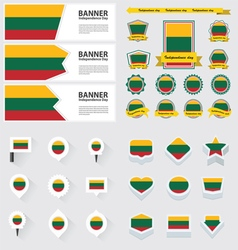 Set lithuania vector
