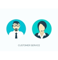 Flat customer service avatars vector image
