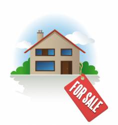 house for sale label vector image