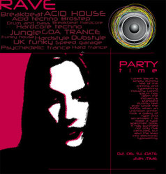 flyer design - party time vector image