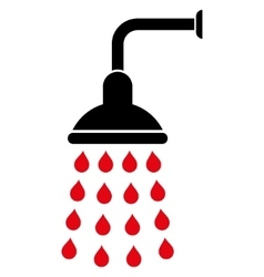 Shower flat symbol vector
