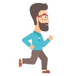 Smiling businessman running vector
