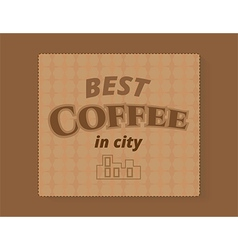 Coffee banner template vector