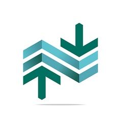 Arrow letter line design symbols vector