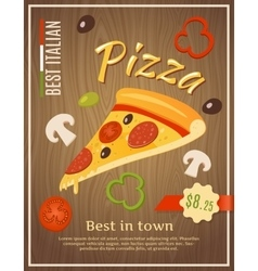 Best pizza poster vector