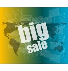 big sale on business digital touch screen vector image vector image