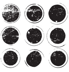 bold stamp set vector image vector image
