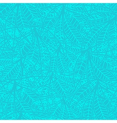 bright abstract blue turquoise pattern from leaves vector image