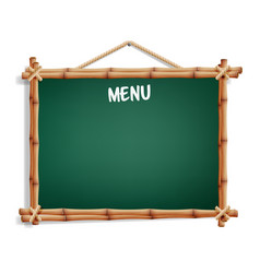 cafe menu board isolated on white background vector image vector image