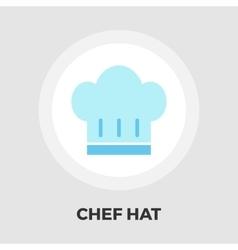 Chef hat flat icon vector