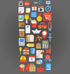 Color interface icons background vector image vector image