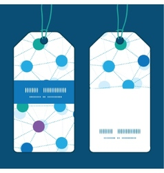 Connected dots vertical stripe frame pattern tags vector