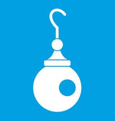 Earring icon white vector