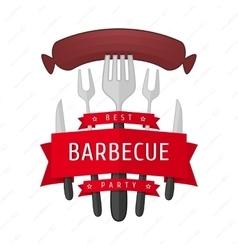Emblem BBQ vector image vector image