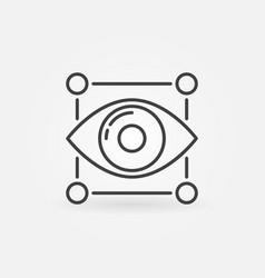 Eye icon minimal machine learning symbol vector