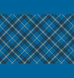 Fabric texture blue check plaid seanless pattern vector