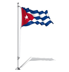 Flag pole cuba vector